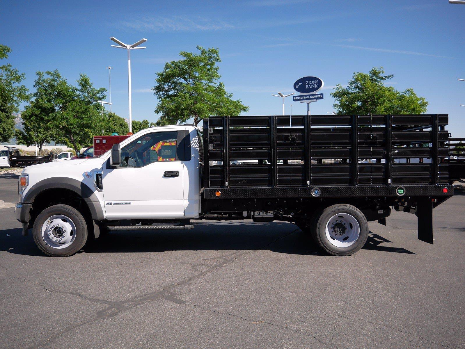 2021 Ford F-550 Regular Cab DRW 4x4, Scelzi SFB Stake Bed #64117 - photo 9
