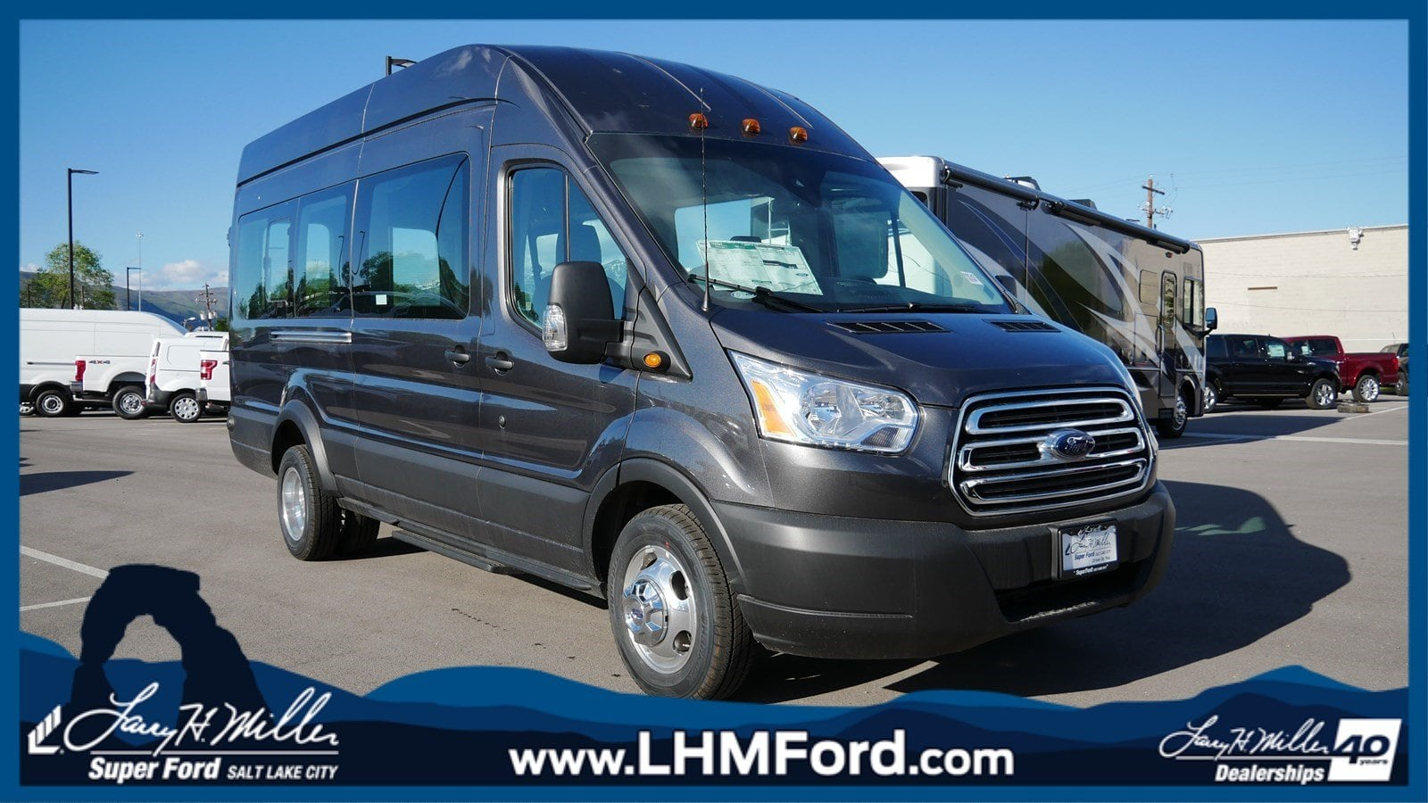 2019 Transit 350 HD High Roof DRW 4x2,  Passenger Wagon #69142 - photo 1