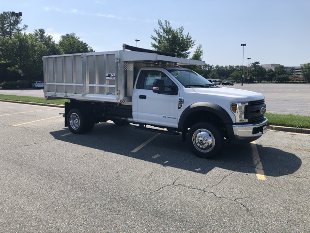 2019 F-450 Regular Cab DRW 4x2,  Dejana Truck & Utility Equipment MAXScaper Landscape Dump #CDA02721 - photo 4