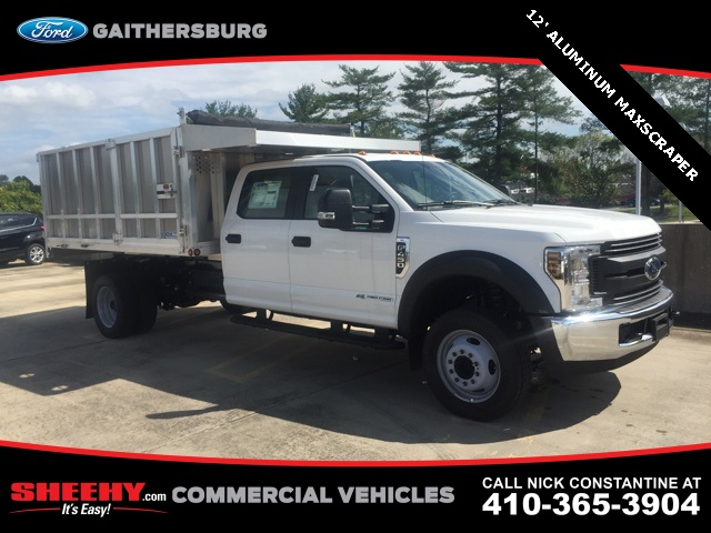 2018 F-450 Crew Cab DRW 4x2,  Dejana Truck & Utility Equipment Landscape Dump #CED03284 - photo 3