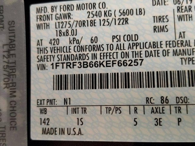2019 F-350 Regular Cab 4x4,  Reading Classic II Aluminum  Service Body #N8612 - photo 16