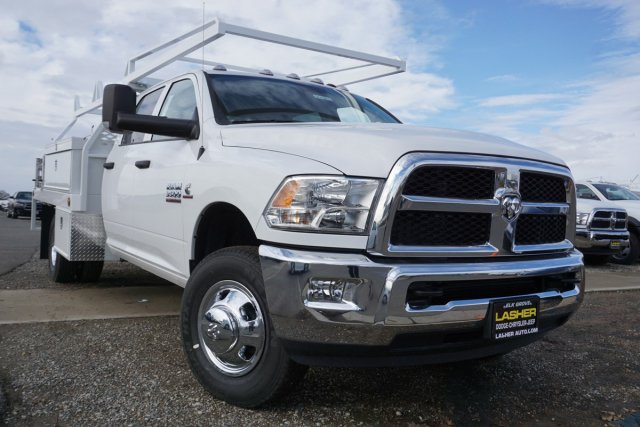 2018 Ram 3500 Crew Cab DRW 4x2,  Scelzi Contractor Body #56197D - photo 1