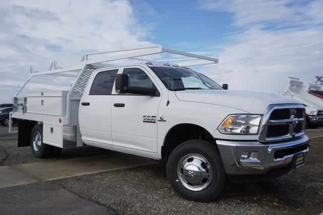 2018 Ram 3500 Crew Cab DRW 4x2,  Scelzi CTFB Contractor Body #56197D - photo 3