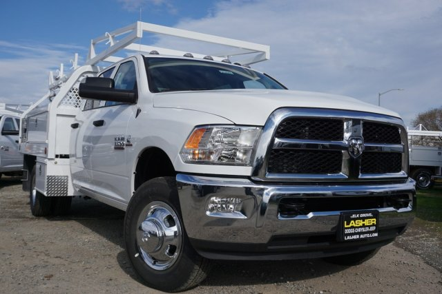 2018 Ram 3500 Crew Cab DRW 4x2,  Royal Contractor Body #56208D - photo 1