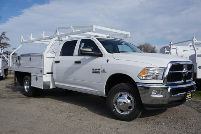 2018 Ram 3500 Crew Cab DRW 4x2,  Royal Contractor Body #56208D - photo 3