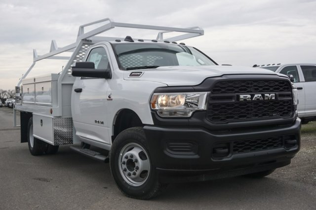 2019 Ram 3500 Regular Cab DRW 4x2, Scelzi Contractor Body #57324D - photo 1
