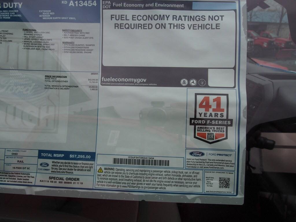 2019 F-550 Regular Cab DRW 4x4,  Duramag Dump Body #10031T - photo 6