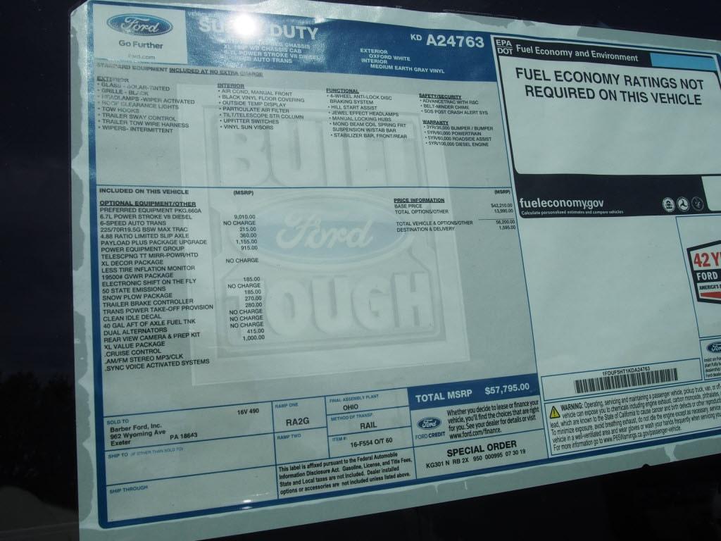 2019 F-550 Regular Cab DRW 4x4, Cab Chassis #10308T - photo 8