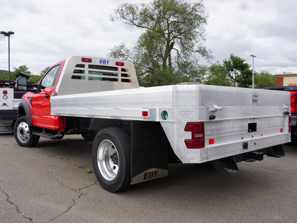2019 F-550 Regular Cab DRW 4x4, M H EBY Platform Body #10344T - photo 1