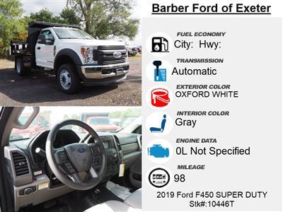 2019 Ford F-450 Regular Cab DRW 4x4, Rugby Eliminator LP Steel Dump Body #10446T - photo 4