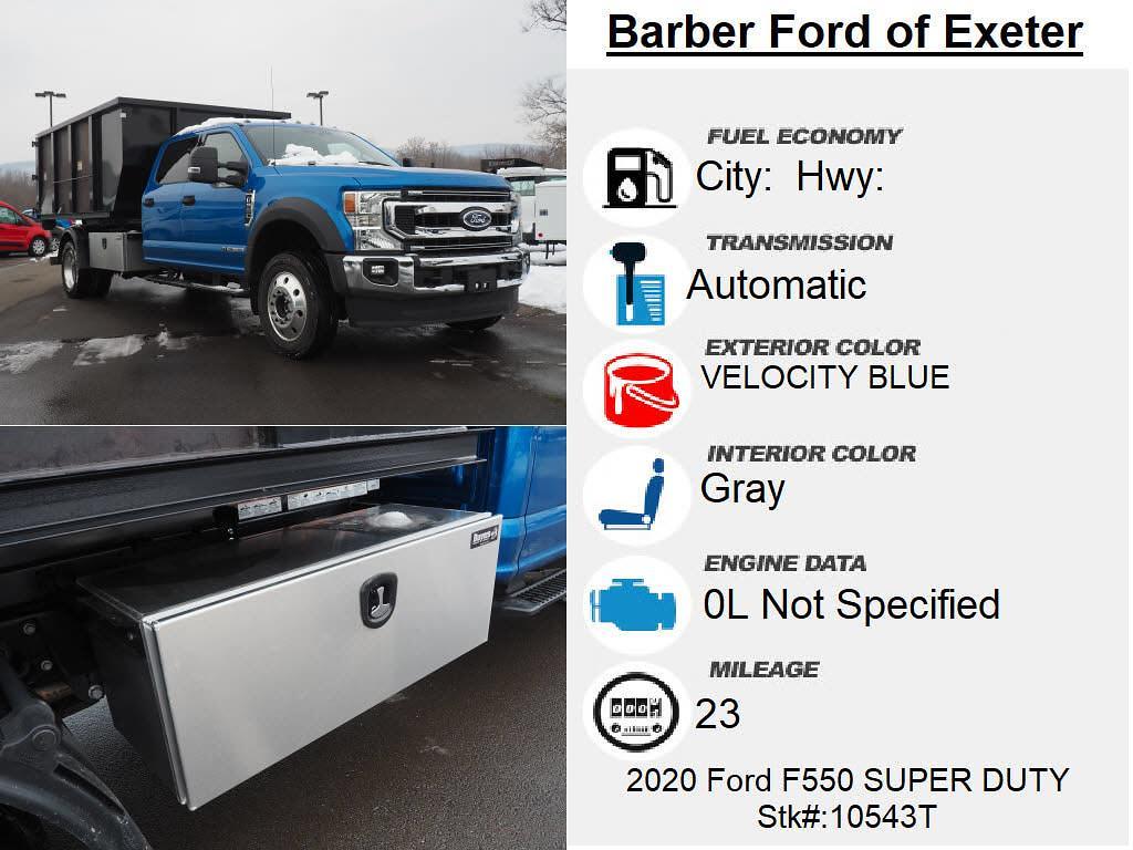 2020 Ford F-550 Crew Cab DRW 4x4, Switch N Go Drop Box Hooklift Body #10543T - photo 4