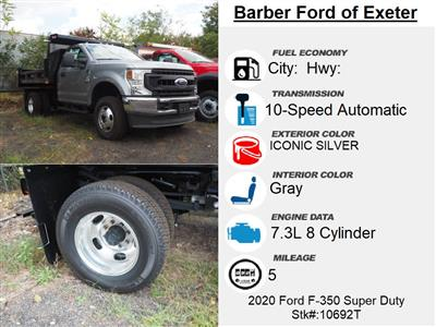 2020 Ford F-350 Regular Cab DRW 4x4, Rugby Eliminator LP Steel Dump Body #10692T - photo 4