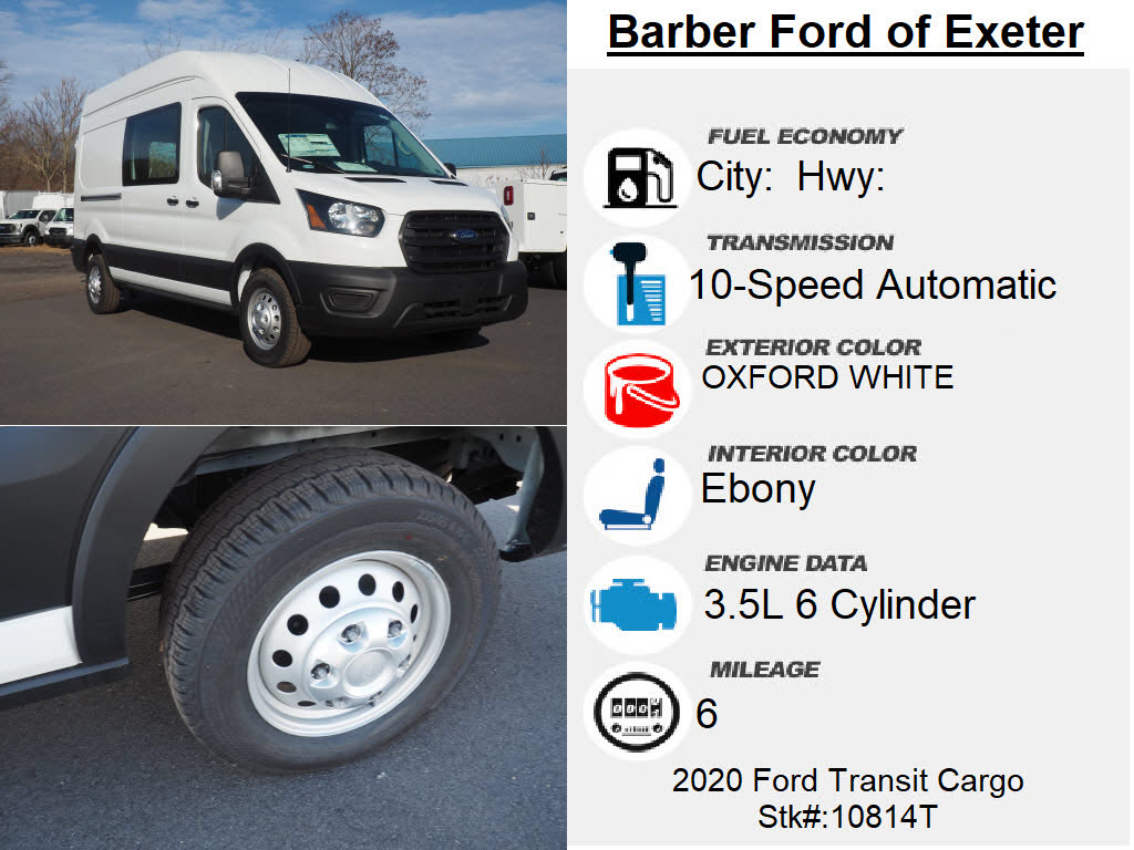 2020 Ford Transit 350 High Roof 4x2, Empty Cargo Van #10814T - photo 5
