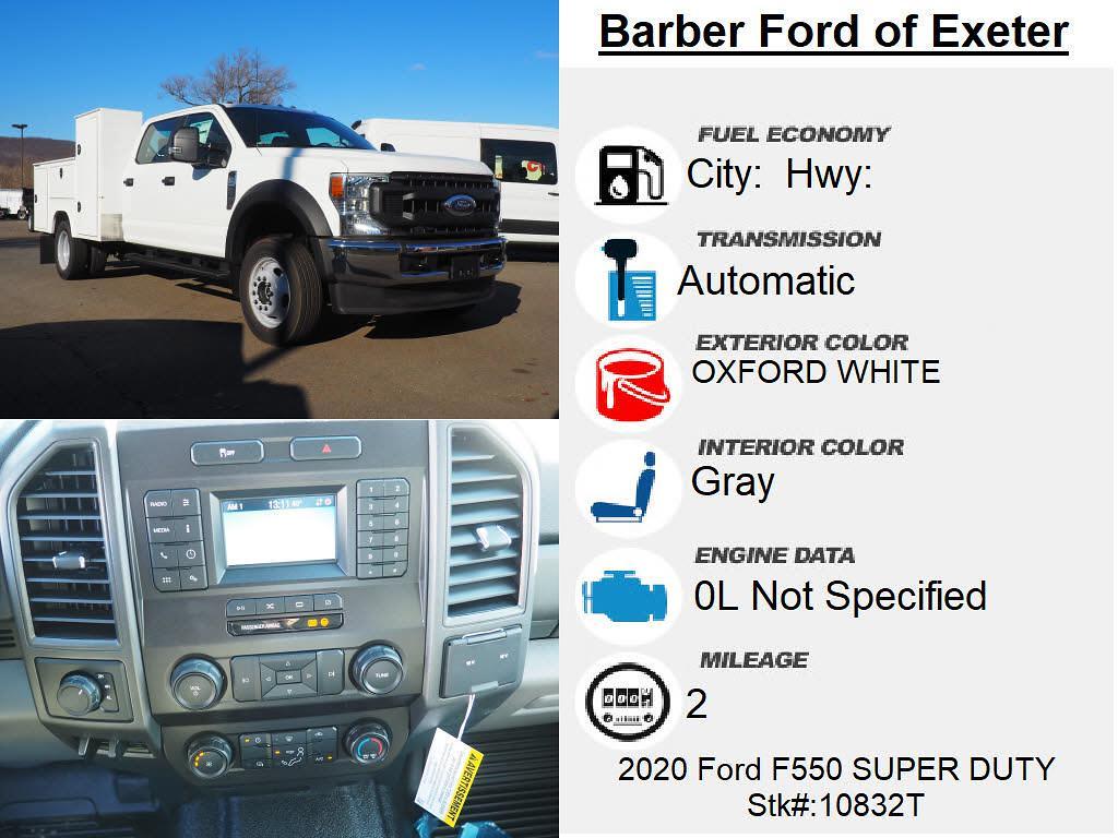 2020 Ford F-550 Crew Cab DRW 4x4, Duramag S Series Service Body #10832T - photo 4