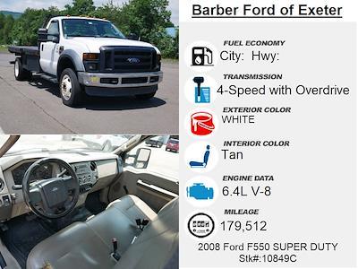 2008 Ford F-550 Regular Cab DRW 4x4, Platform Body #10849C - photo 6