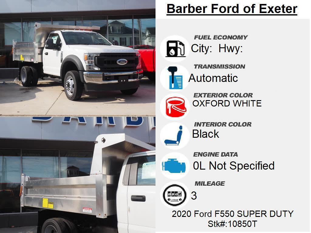 2020 Ford F-550 Regular Cab DRW 4x4, Duramag Dump Body #10850T - photo 4