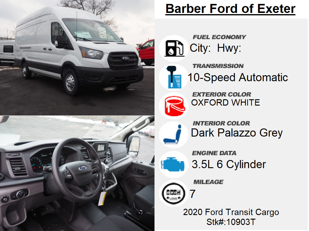 2020 Ford Transit 350 High Roof 4x2, Empty Cargo Van #10903T - photo 4