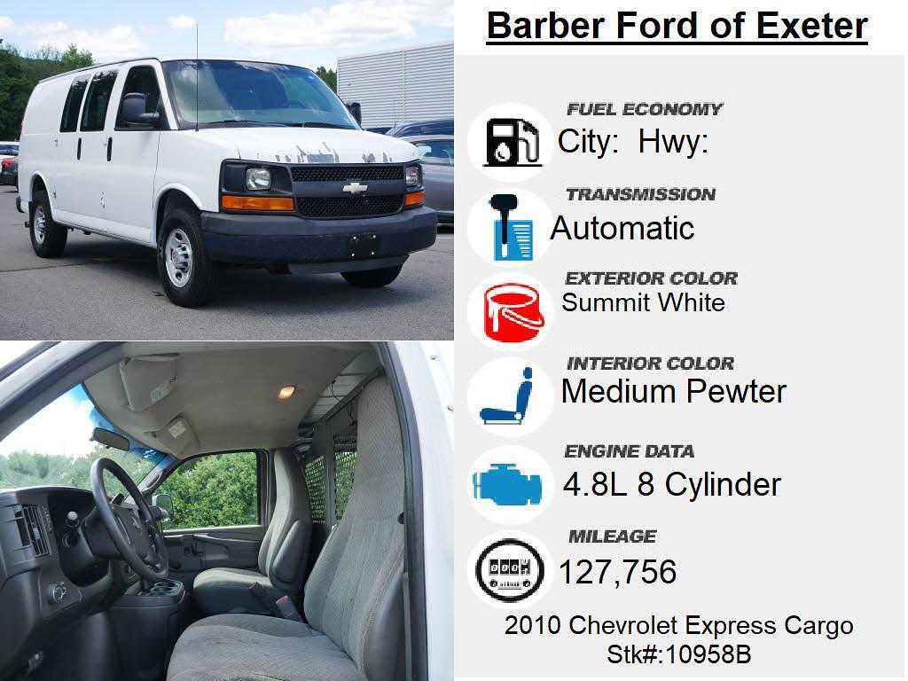 2010 Chevrolet Express 3500 4x2, Upfitted Cargo Van #10958B - photo 4