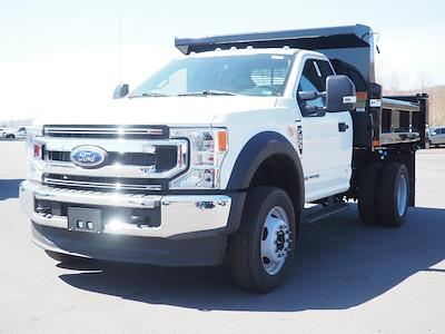 2021 Ford F-550 Regular Cab DRW 4x4, Rugby Eliminator LP Steel Dump Body #11067T - photo 6