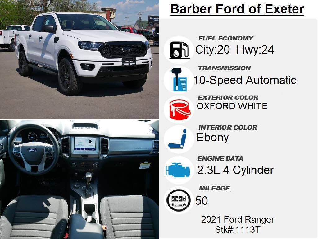 2021 Ford Ranger SuperCrew Cab 4x4, Pickup #1113T - photo 4