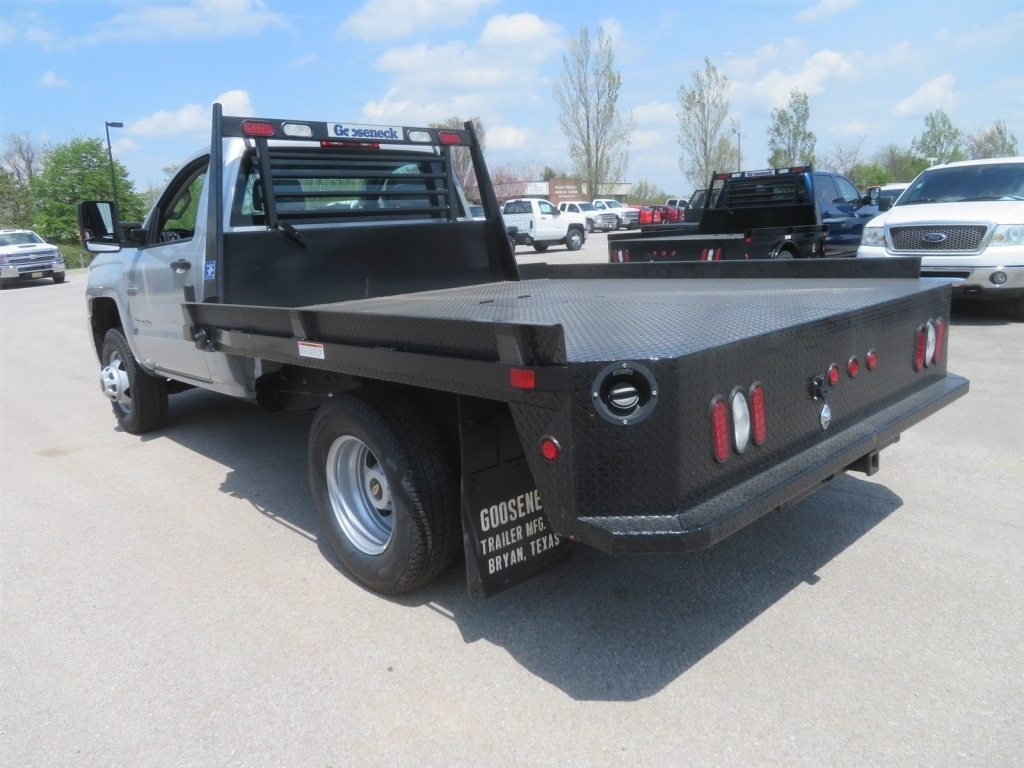 2018 Silverado 3500 Regular Cab 4x4,  Gooseneck Trailer Manufacturing Co. Platform Body #C1587 - photo 5