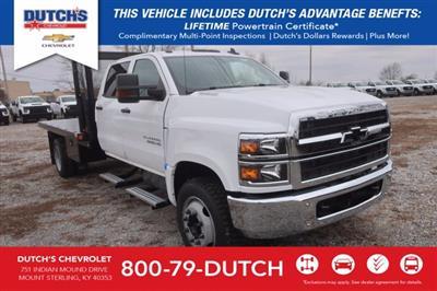 2020 Silverado Medium Duty Crew Cab DRW 4x2,  Monroe Truck Equipment Platform Body #C2896 - photo 1