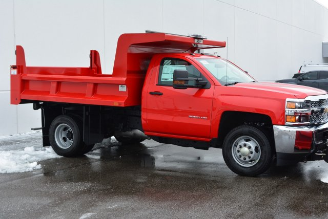 2019 Silverado 3500 Regular Cab DRW 4x4,  Rugby Dump Body #T90360 - photo 3