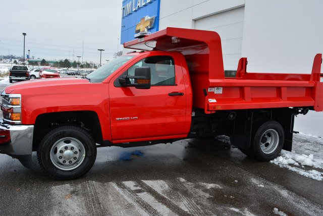2019 Silverado 3500 Regular Cab DRW 4x4,  Rugby Dump Body #T90360 - photo 6