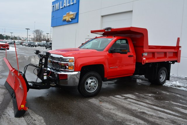 2019 Silverado 3500 Regular Cab DRW 4x4,  Rugby Dump Body #T90360 - photo 7