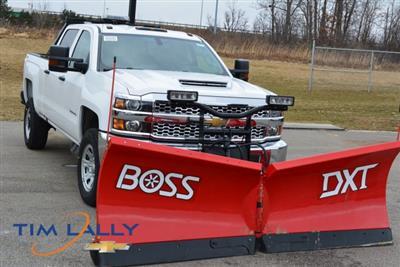2019 Silverado 3500 Crew Cab 4x4,  BOSS Snowplow Pickup #T90547 - photo 1