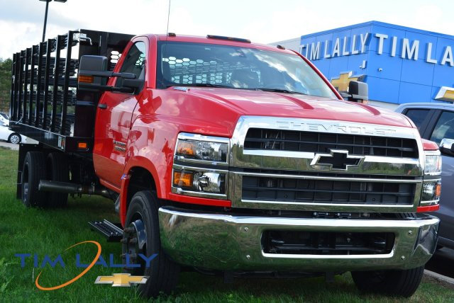 2019 Silverado Medium Duty Regular Cab DRW 4x2,  Knapheide Value-Master X Stake Bed #T90790 - photo 1