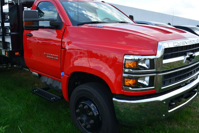 2019 Silverado Medium Duty Regular Cab DRW 4x2,  Knapheide Value-Master X Stake Bed #T90790 - photo 3