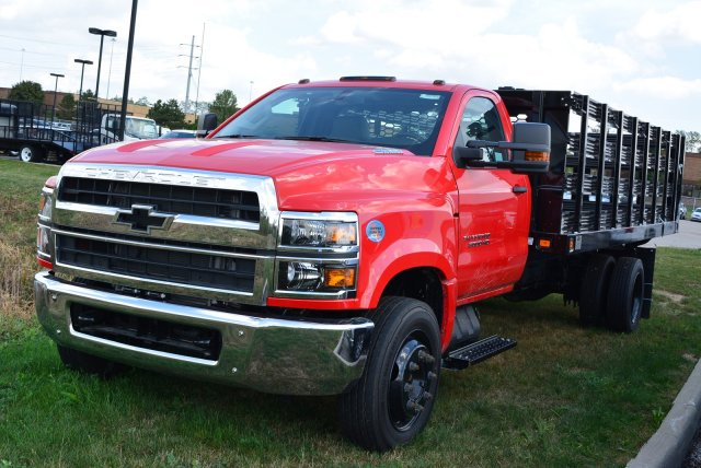 2019 Silverado Medium Duty Regular Cab DRW 4x2, Knapheide Value-Master X Stake Bed #T90790 - photo 6