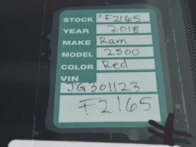 2018 Ram 2500 Regular Cab 4x4,  Pickup #F2165 - photo 21