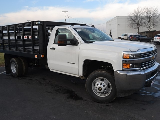 2017 Silverado 3500 Regular Cab DRW 4x4,  Knapheide Value-Master X Stake Bed #C170921 - photo 3