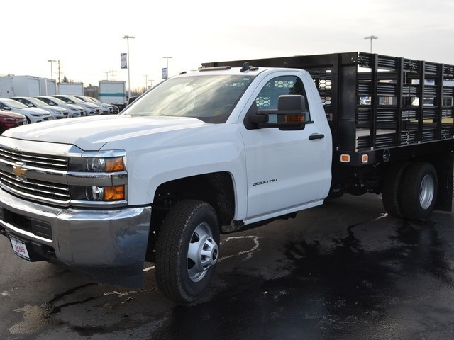 2017 Silverado 3500 Regular Cab DRW 4x4,  Knapheide Value-Master X Stake Bed #C170921 - photo 1