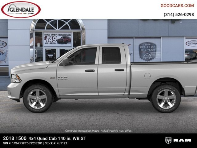 2018 Ram 1500 Quad Cab 4x4,  Pickup #4J1121 - photo 5