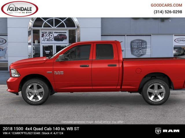 2018 Ram 1500 Quad Cab 4x4,  Pickup #4J1124 - photo 5