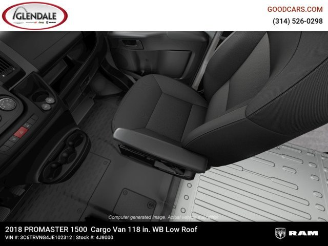 2018 ProMaster 1500 Standard Roof FWD,  Empty Cargo Van #4J8000 - photo 15