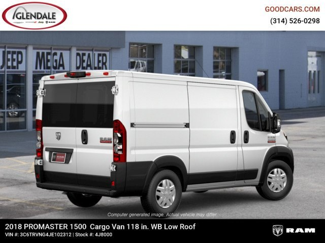2018 ProMaster 1500 Standard Roof FWD,  Empty Cargo Van #4J8000 - photo 8