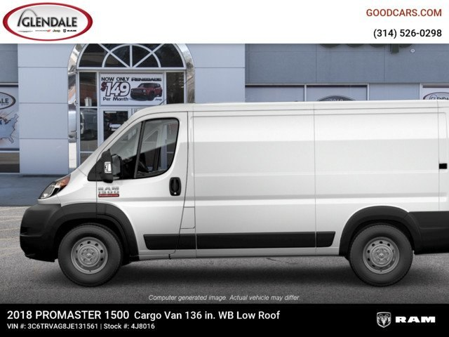 2018 ProMaster 1500 Standard Roof 4x2,  Empty Cargo Van #4J8016 - photo 2