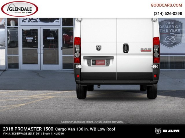2018 ProMaster 1500 Standard Roof 4x2,  Empty Cargo Van #4J8016 - photo 4