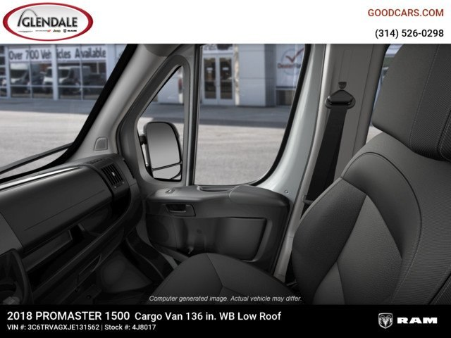 2018 ProMaster 1500 Standard Roof 4x2,  Empty Cargo Van #4J8017 - photo 14