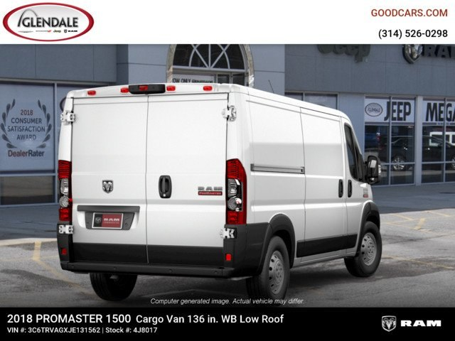 2018 ProMaster 1500 Standard Roof 4x2,  Empty Cargo Van #4J8017 - photo 2