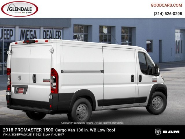 2018 ProMaster 1500 Standard Roof 4x2,  Empty Cargo Van #4J8017 - photo 7