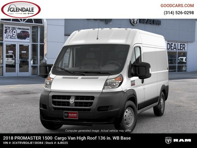 2018 ProMaster 1500 High Roof FWD,  Empty Cargo Van #4J8025 - photo 6