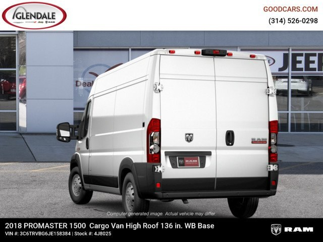 2018 ProMaster 1500 High Roof FWD,  Empty Cargo Van #4J8025 - photo 3