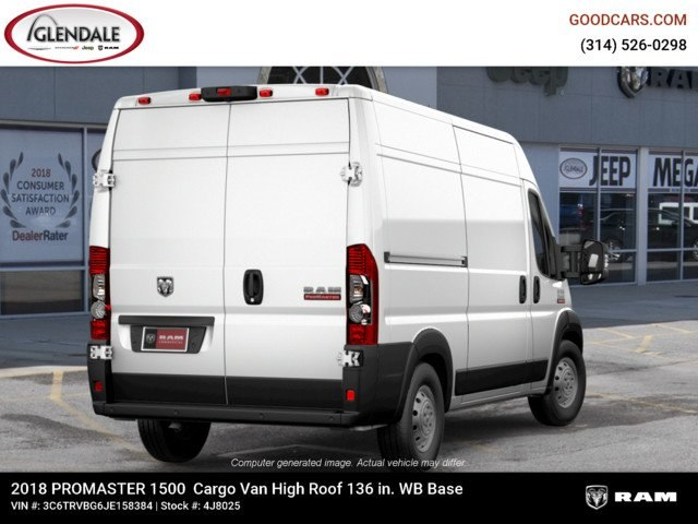 2018 ProMaster 1500 High Roof FWD,  Empty Cargo Van #4J8025 - photo 9