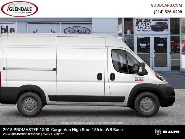 2018 ProMaster 1500 High Roof FWD,  Empty Cargo Van #4J8027 - photo 11