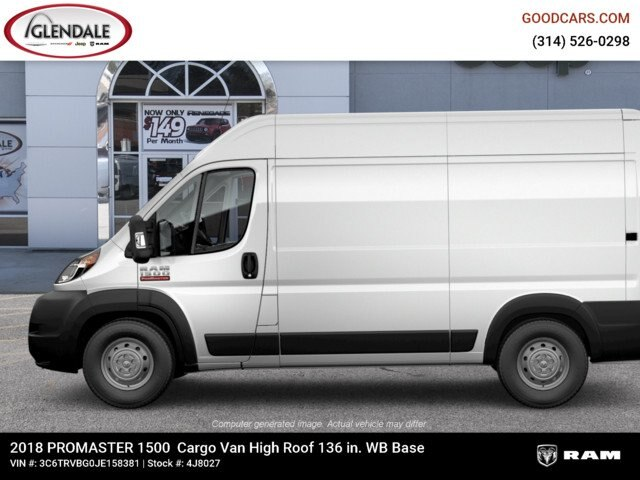 2018 ProMaster 1500 High Roof FWD,  Empty Cargo Van #4J8027 - photo 6